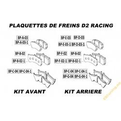 D2 Racing Brake Pads for D2...